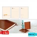 سررسید آنلاین سالنامه, وزیری,جلد ترکیبی, چرم ,چرم ترمو, پلاک ربان ,AN0116