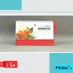 تقویم رومیزی هفتگی 98 ,منظره,پایه چوب,قرمز,PS3004