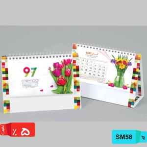 مدل های تقویم رومیزی طرح گل SM58