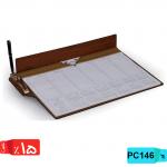 تقویم رومیزی تولید 98,زیردستی,چوبی،PC146