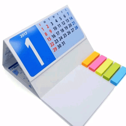تقویم رومیزی با جای یادداشت